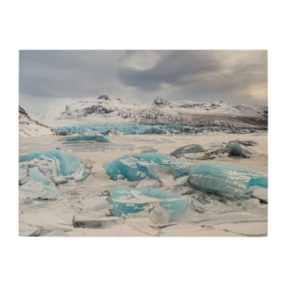 Glacier Ice landscape, Iceland Wood Wall Art