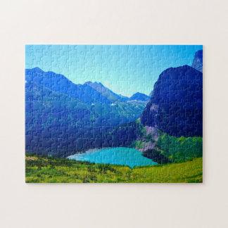 Glacier in Montana. Jigsaw Puzzle