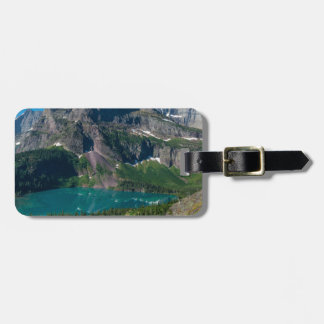 Glacier lake in a mountain, Montana Luggage Tag