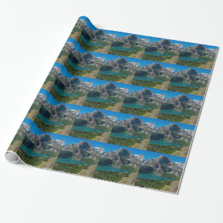 Glacier lake in a mountain, Montana Wrapping Paper