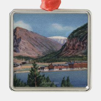 Glacier National Park, MT - Many Glacier Hotel 2 Metal Ornament