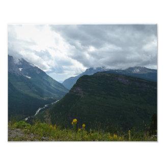 Glacier National Park Poster on satin paper Photo Art