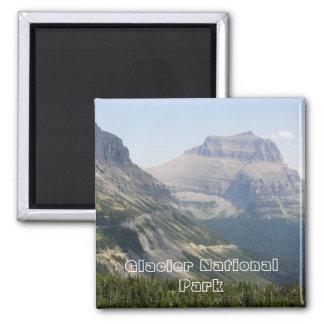 Glacier Park Travel Photo Square Magnet