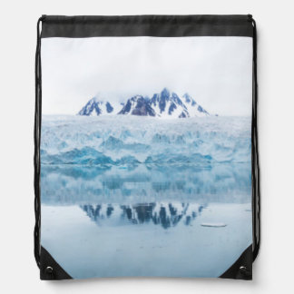 Glacier reflections, Norway Drawstring Bag