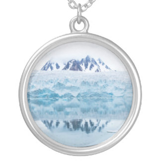 Glacier reflections, Norway Silver Plated Necklace
