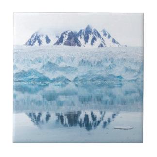 Glacier reflections, Norway Tile