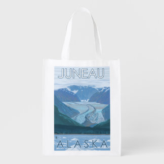 Glacier Scene - Juneau, Alaska Reusable Grocery Bag