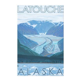 Glacier Scene - Latouche, Alaska Canvas Prints