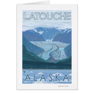 Glacier Scene - Latouche, Alaska Greeting Card