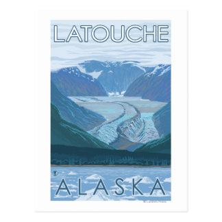 Glacier Scene - Latouche Alaska Post Card