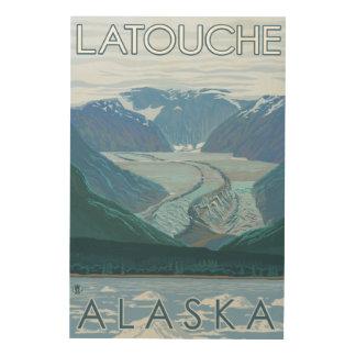 Glacier Scene - Latouche, Alaska Wood Canvases