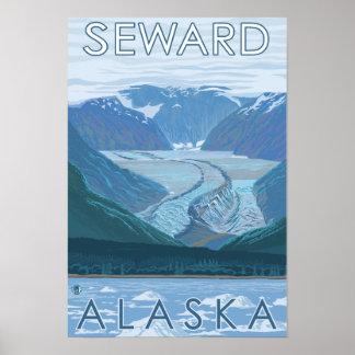 Glacier Scene - Seward, Alaska Poster