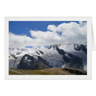 Glaciers in the Swiss alps Card