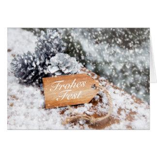 """Glad celebration"" in the snow Card"