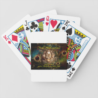 Glad Christmas a good slide in the new year Bicycle Playing Cards