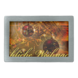 Glad Christmas a good slide in the new year Rectangular Belt Buckle