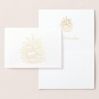 Glad Christmas golden Pine Cone I Foil Card