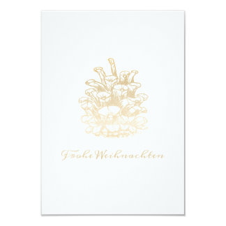 Glad Christmas Kiefernzapfen I gold Card