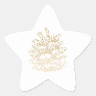 Glad Christmas Kiefernzapfen I gold Star Sticker