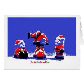 Glad Christmas Nikolaus PopArt Card