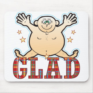 Glad Fat Man Mouse Pad