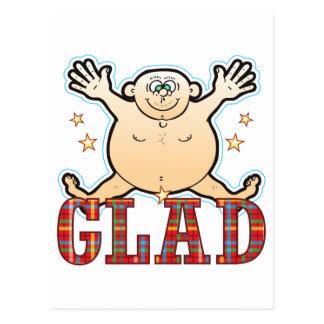 Glad Fat Man Postcard