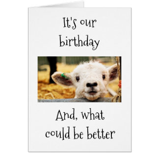 """GLAD I AM GROWING OLD WITH """"YOU""""-AGE HUMOR FRIEND CARD"""