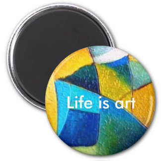 gladart.com, art, fine art, prints 6 cm round magnet