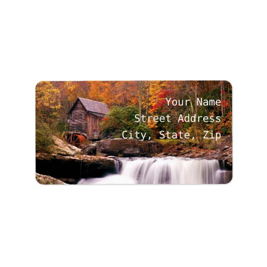 Glade Creek Grist Mill Address Label
