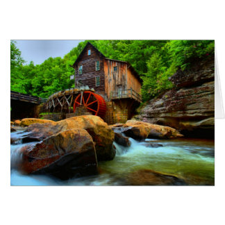 Glade Creek Grist Mill Card