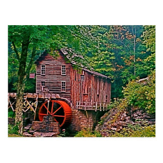 Glade Creek Grist Mill Post Card