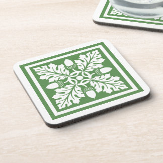 Glade Greent Acorn and Leaf Tile Design Coaster