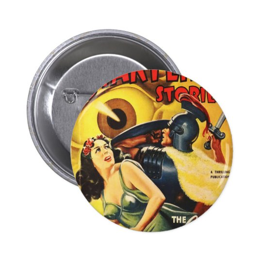 Gladiator Fights an Eyeball 6 Cm Round Badge