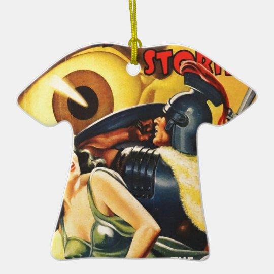 Gladiator Fights an Eyeball Ceramic T-Shirt Decoration
