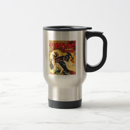 Gladiator Fights an Eyeball Travel Mug