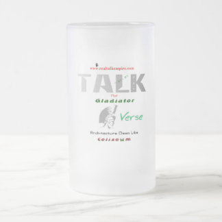 gladiator - glass frosted glass mug