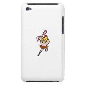 Gladiator Striking Lacrosse Stick Cartoon iPod Case-Mate Cases