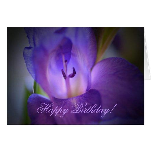 Gladiola birthday card