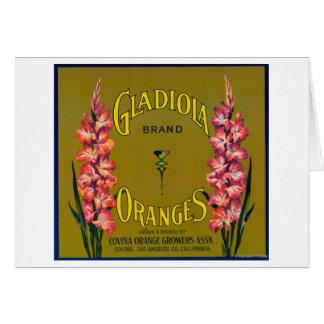 Gladiola Brand Citrus Crate Label Card