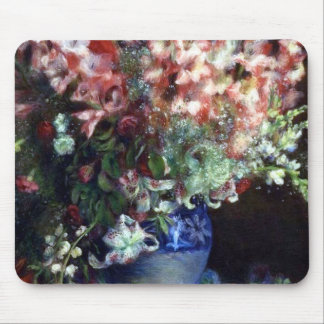 Gladiolas in a Vase by Pierre Auguste Renoir Mouse Pads