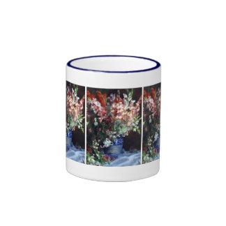 Gladiolas in a Vase by Pierre Auguste Renoir Mugs