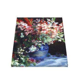 Gladiolas in a Vase by Renoir Wrapped Canvas Gallery Wrap Canvas