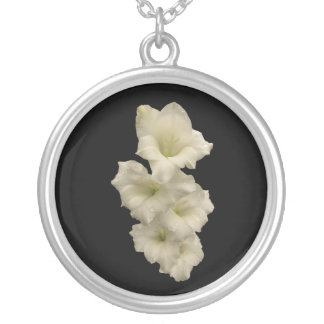Gladiolas Silver Plated Necklace