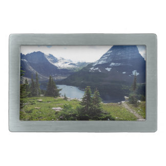 Glaicer National Park Hidden Lake Overlook Rectangular Belt Buckles