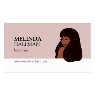 Glam Beauty Girl I Hair Stylist, Hair Extensions Double-Sided Standard Business Cards (Pack Of 100)