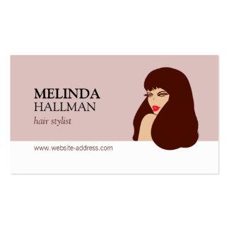 Glam Beauty Girl II Hair Stylist, Hair Salon Pack Of Standard Business Cards
