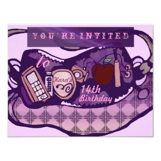 Glam birthday card