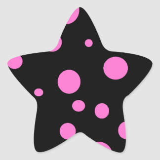 Glam Black with Pink Polka Dots Stickers