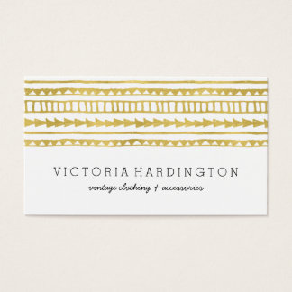 Glam Boho Chic | Faux Gold Foil Business Card