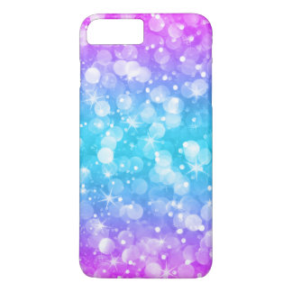 Glam Bokeh Glitter Ombre Pink & Blue iPhone 8 Plus/7 Plus Case
